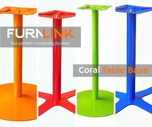 Coral Colourful Cafe Table Bases