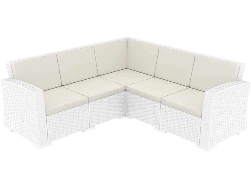 005 Ml Corner Sofa 3x2 White Front Sideaslyzn
