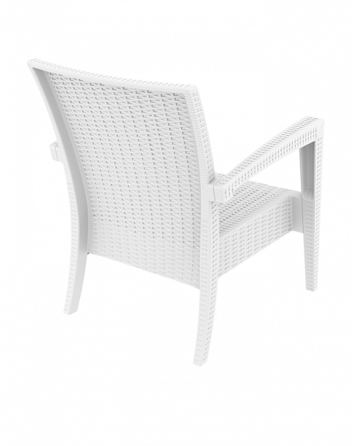012 Ml Armchair White Back Sidew7f5m2