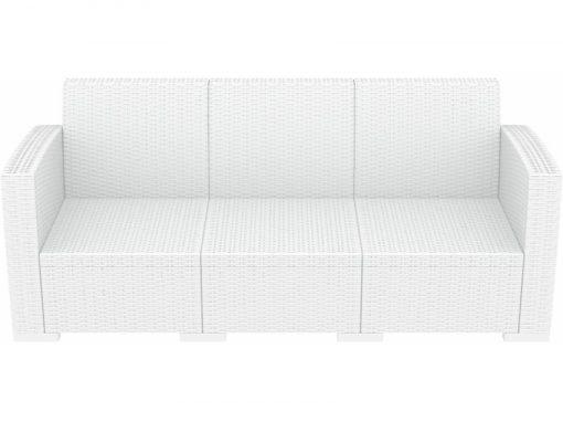 White Monaco 3 Seater Lounge