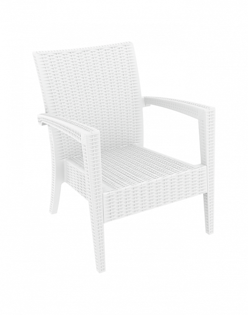 014 Ml Armchair White Front Sided J17m