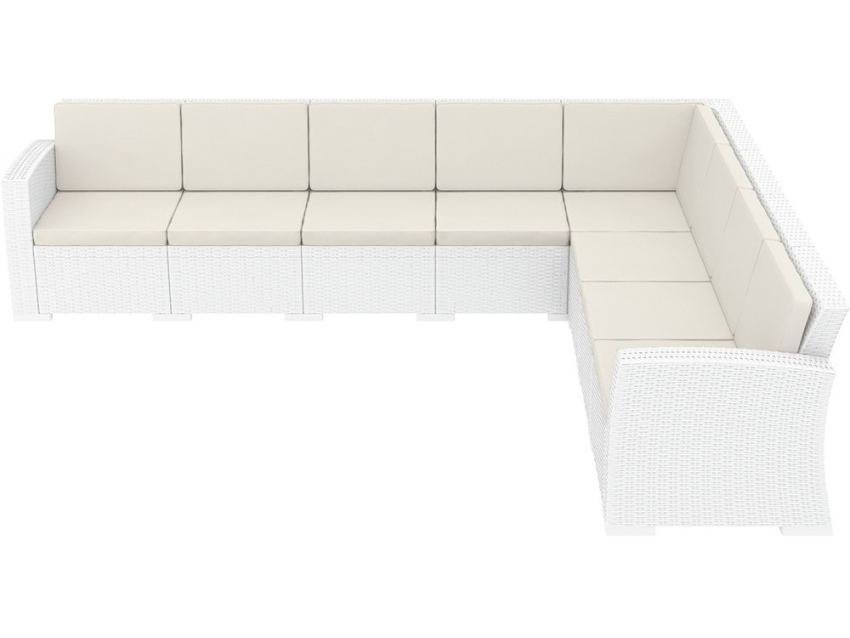 018 Ml Corner Sofa 5x3 White Sidey68199