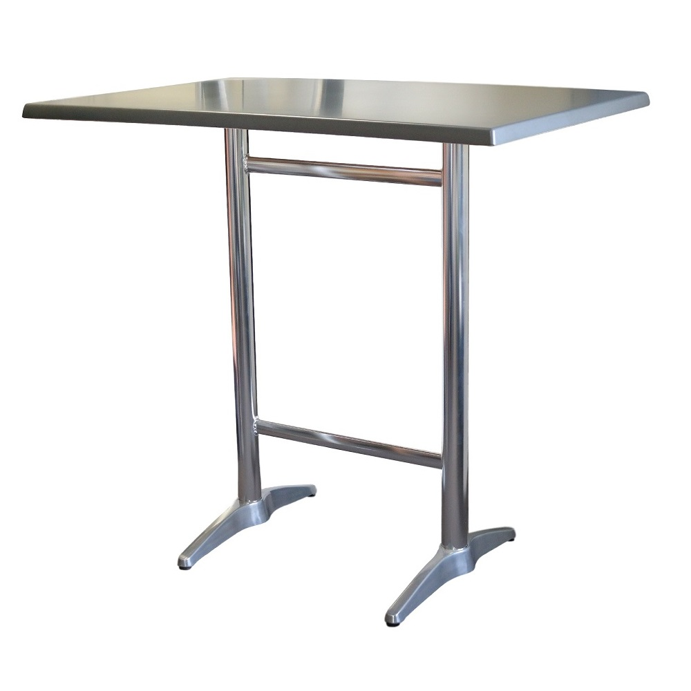 Astoria Aluminium Twin Bar Table Rectangle