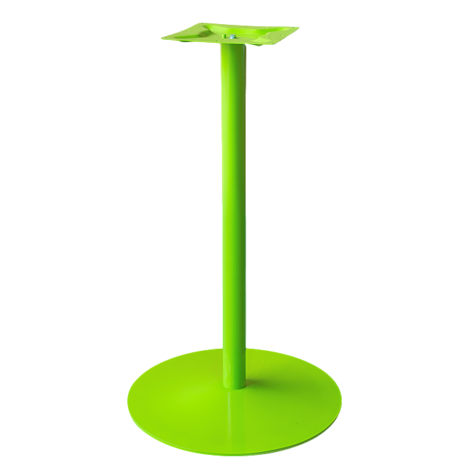 Coral Round Bar Table Base Green