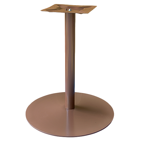 Coral Round Table Base Chocolate