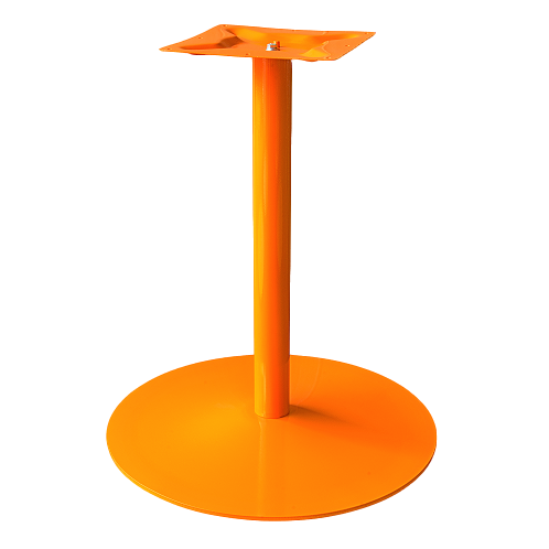 Coral Round Table Base Orange