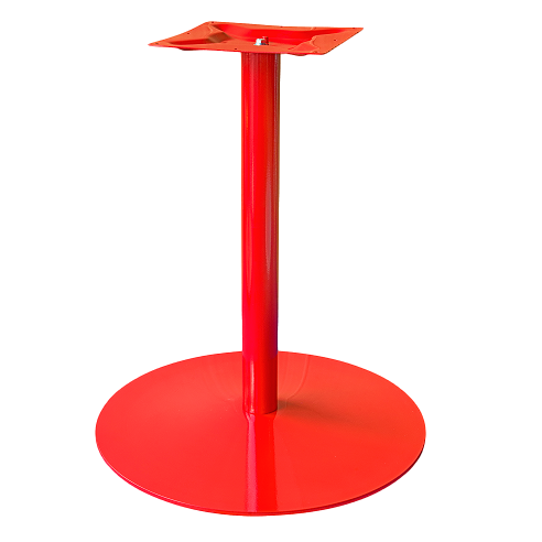 Coral Round Table Base Red