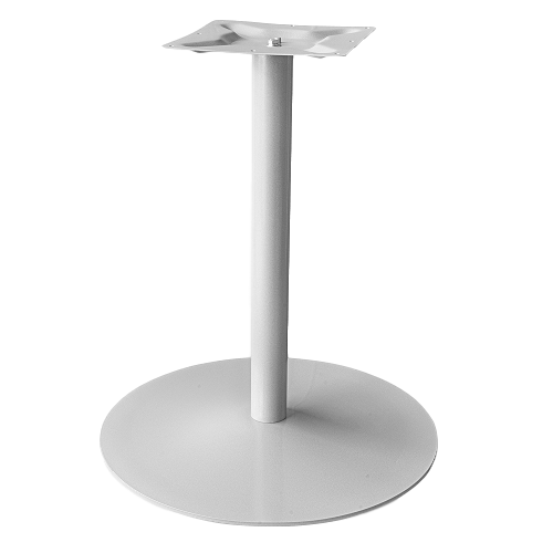 Coral Round Table Base Silver