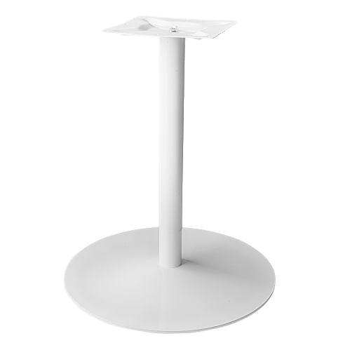 Coral Round Table Base White