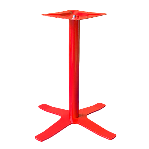 Coral Star Table Base Red
