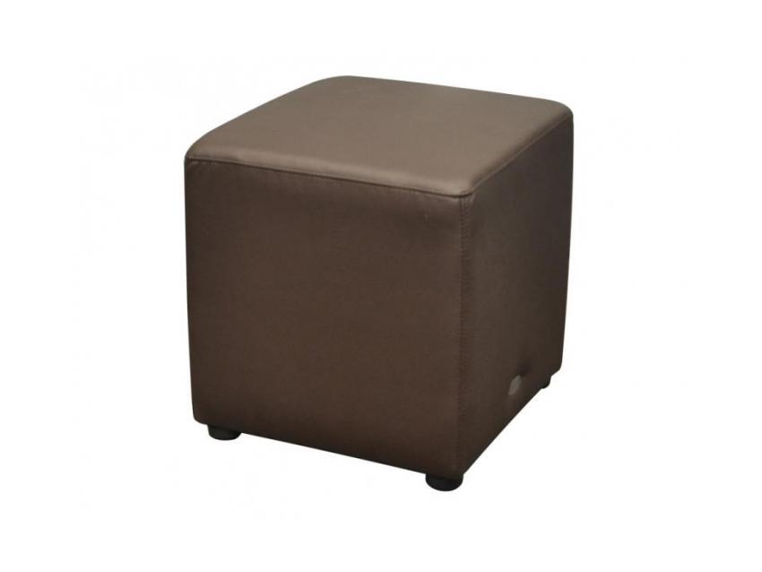 Cube Ottoman Chocolate Lo