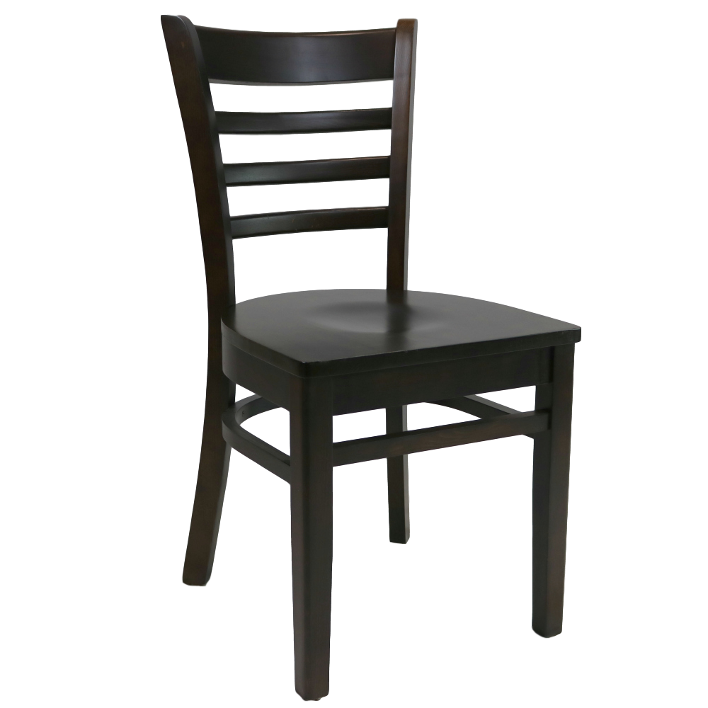 Florence Chair Timber Seat Chocolate