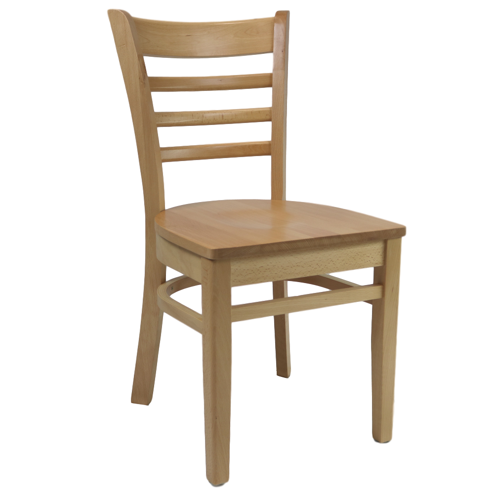 Florence Chair Timber Seat Natural