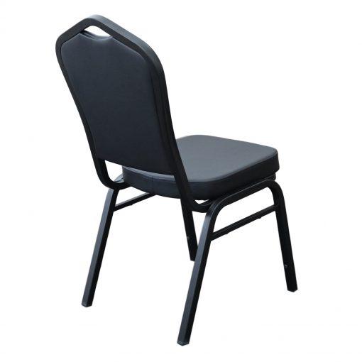 Function Chair Black Vinyl Black Frame Back