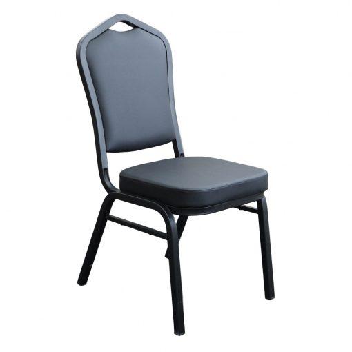 Function Chair Black Vinyl Black Frame Front E1542246227248