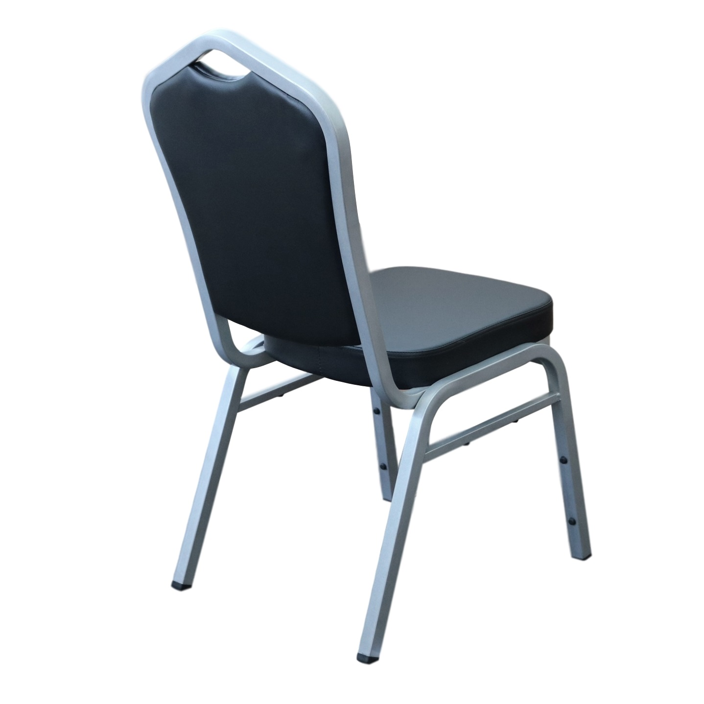Function Chair Black Vinyl Grey Frame Back