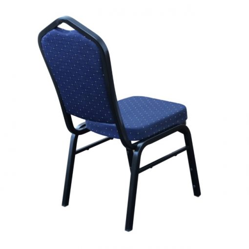 Function Chair Blue Fabric Black Frame Backjo B81