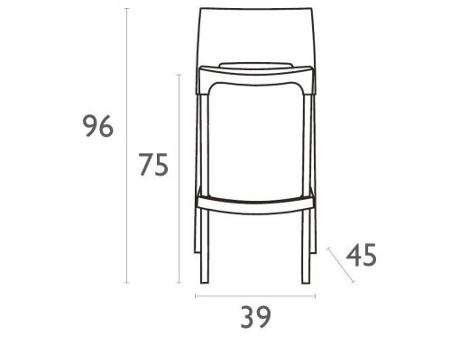 Gio Stool Dimensions39o307