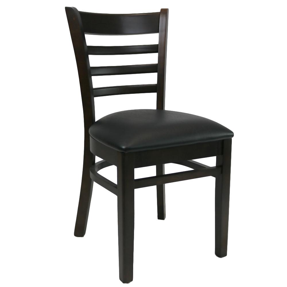 Kit A C Florence Chair Chocolate Vinyl Seat Black