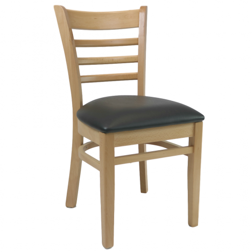 Kit A C Florence Chair Natural Vinyl Seat Black