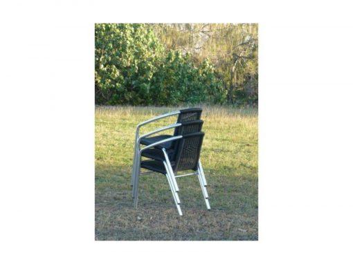 Lagoa Aluminium Wicker Stacking Chairs