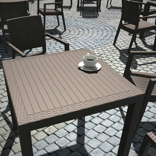 Orlando Table 800 X 800 Chocolate 2