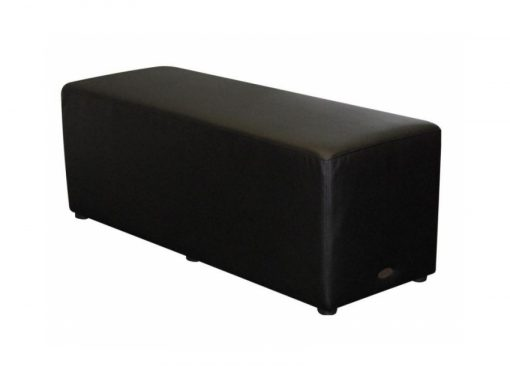 Rectangle Ottoman Black Lo
