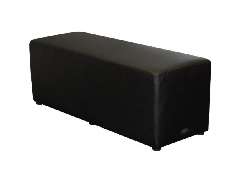 Rectangle Ottoman Black Lo