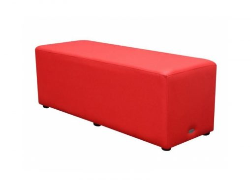 Rectangle Ottoman Red Lo