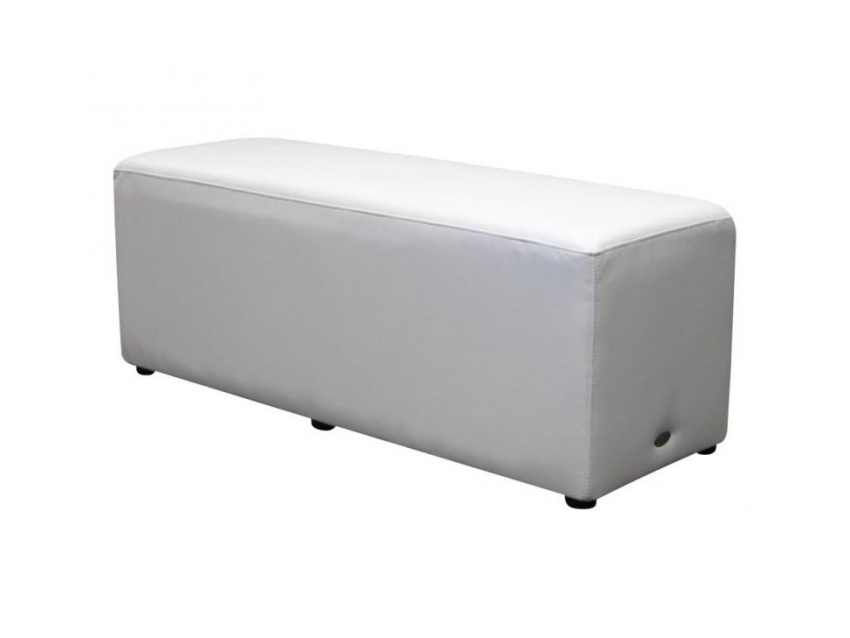 Rectangle Ottoman White Lo