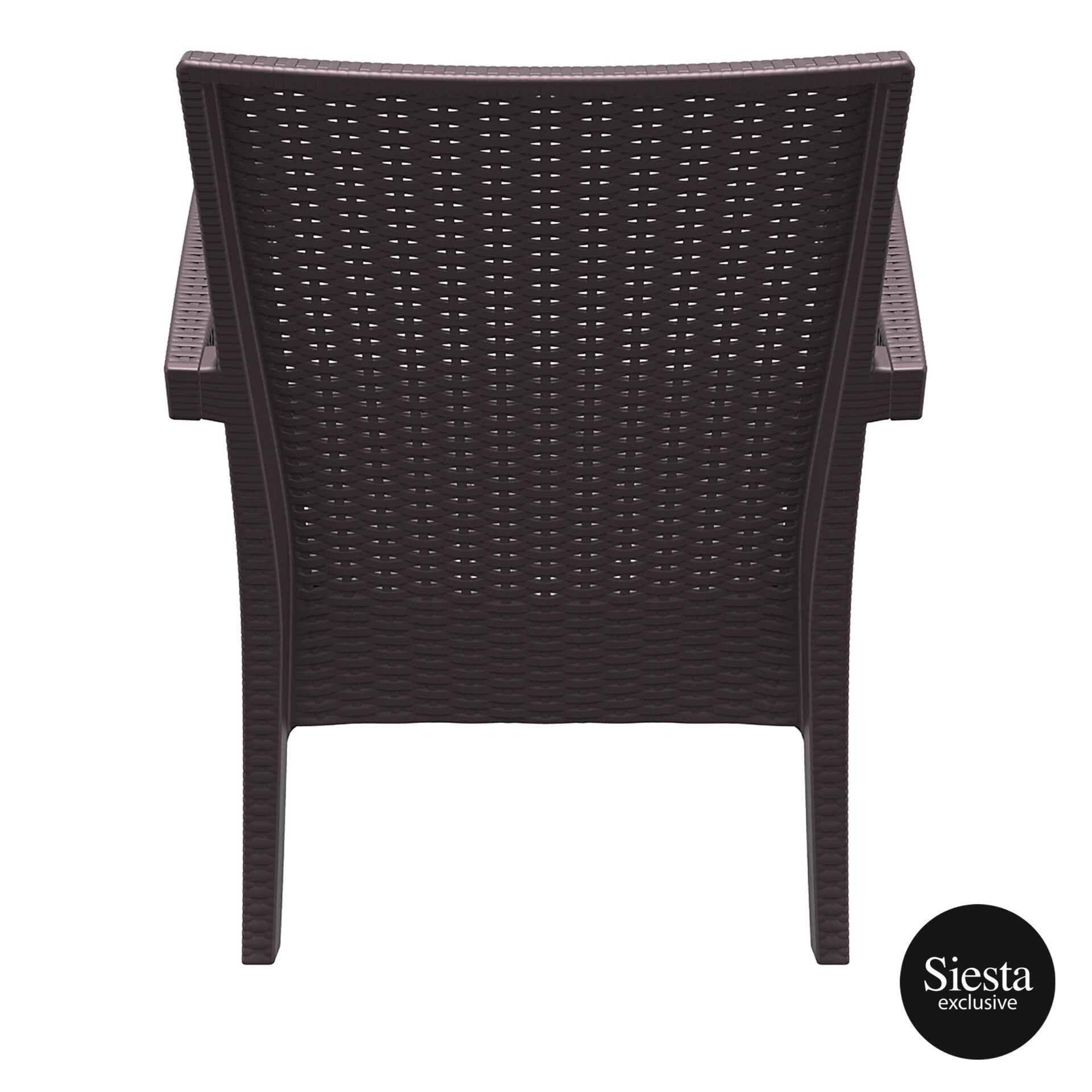 Resin Rattan Miami Tequila Lounge armchair brown back