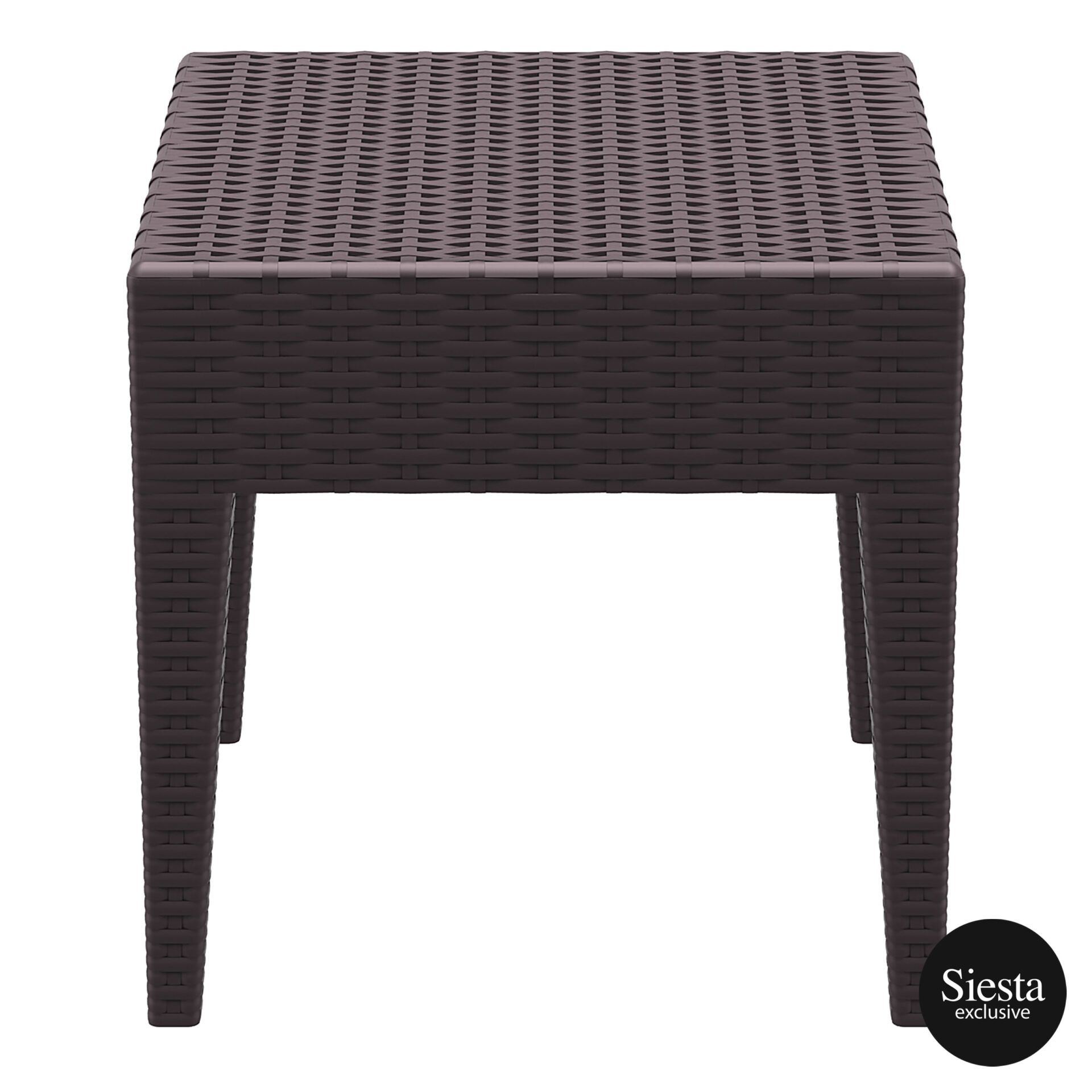 Resin Rattan Miami Tequila Lounge side table brown side
