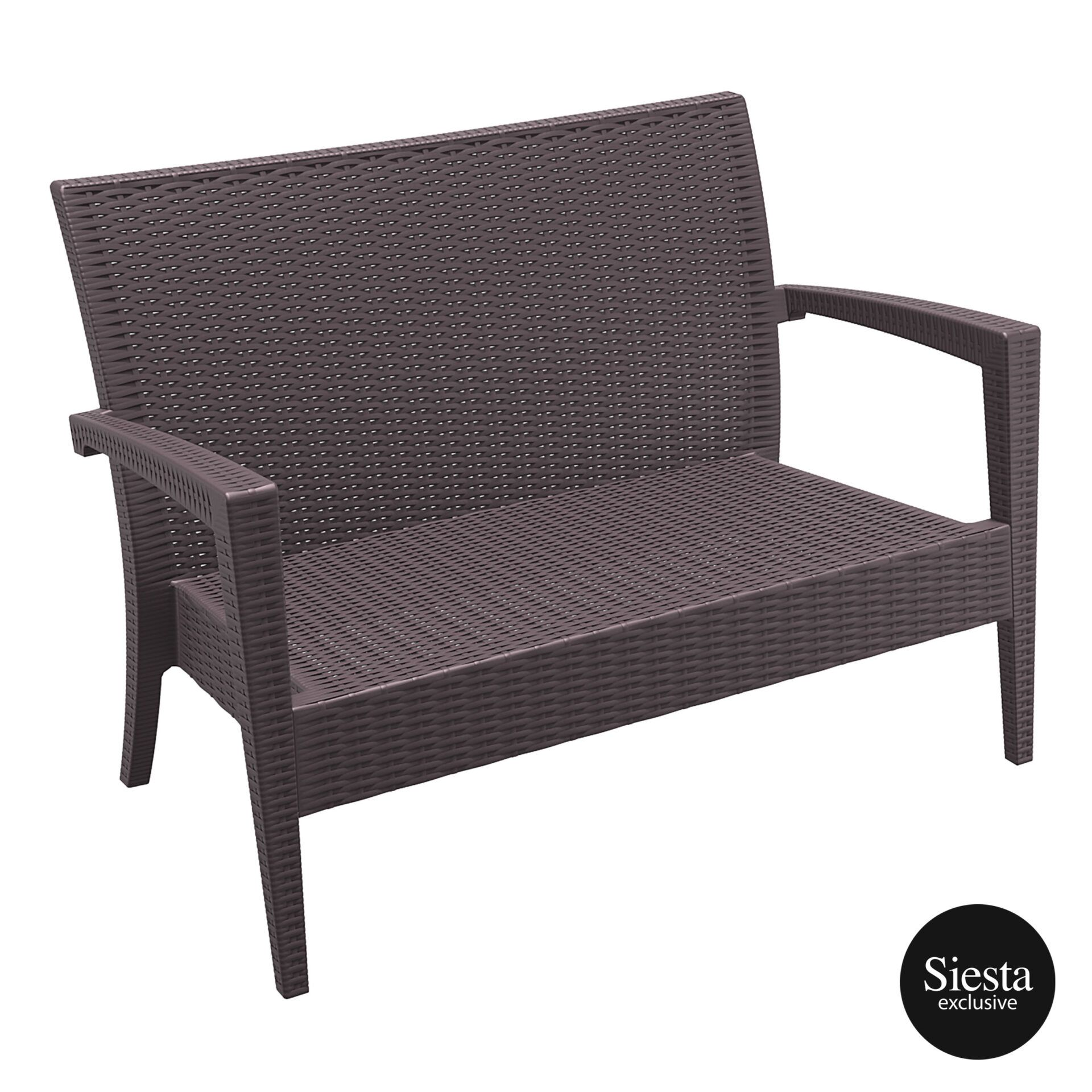 Resin Rattan Miami Tequila Lounge sofa brown front side
