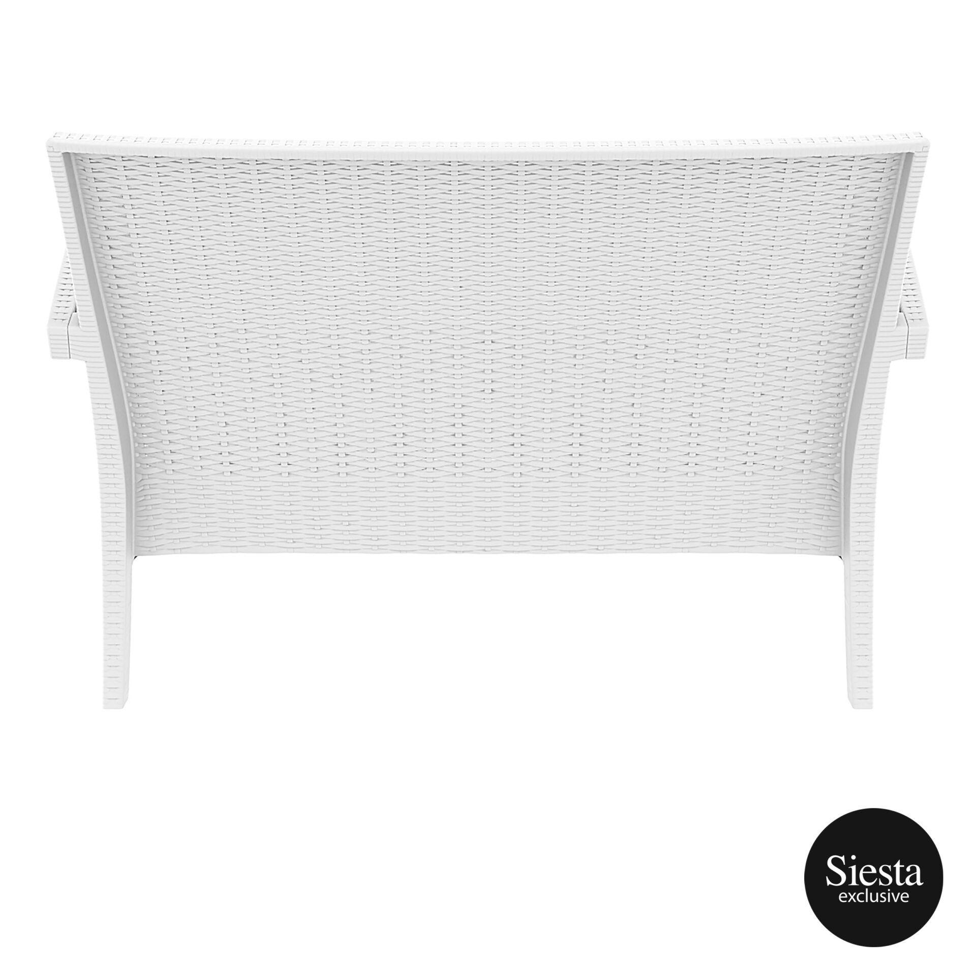 Resin Rattan Miami Tequila Lounge sofa white back