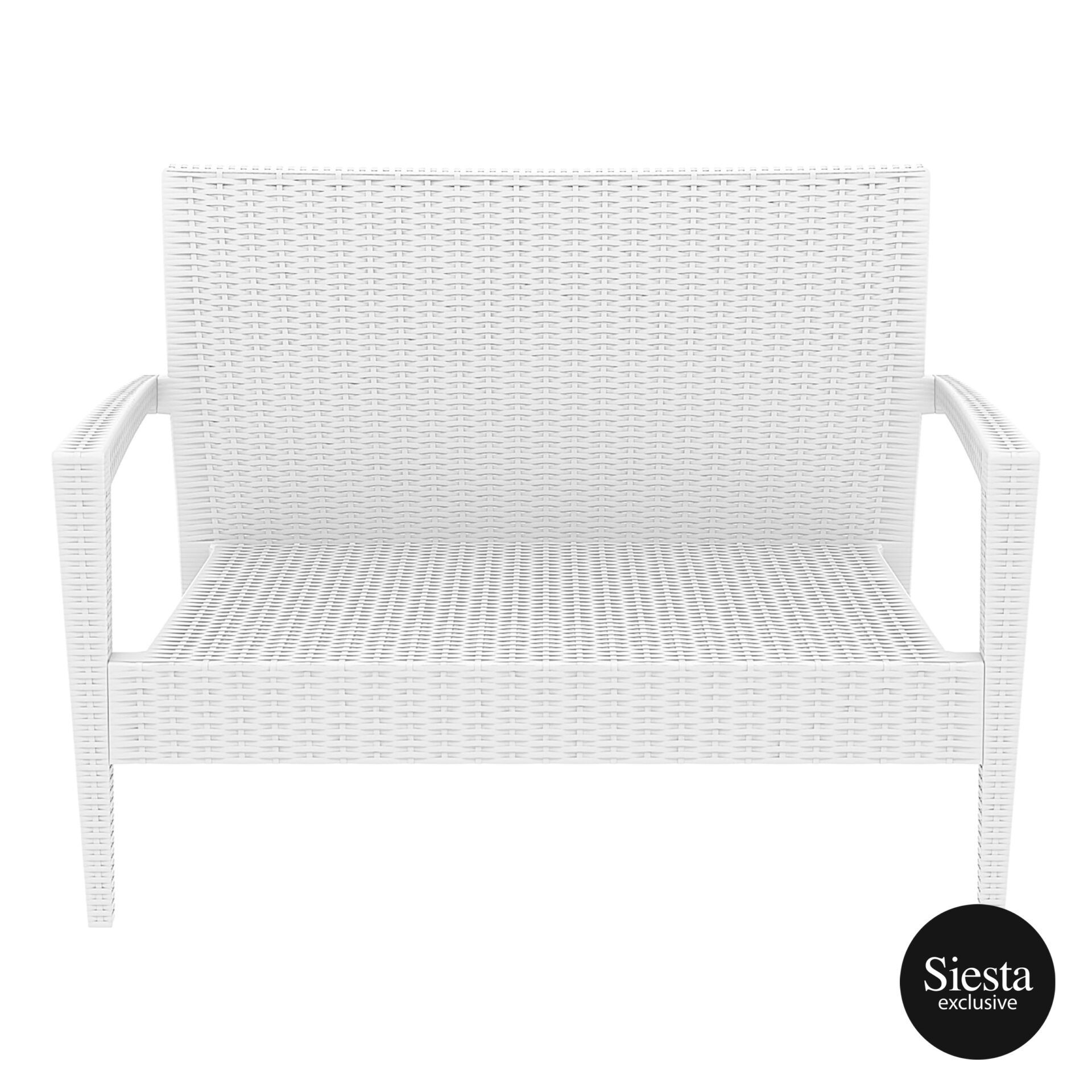 Resin Rattan Miami Tequila Lounge sofa white front