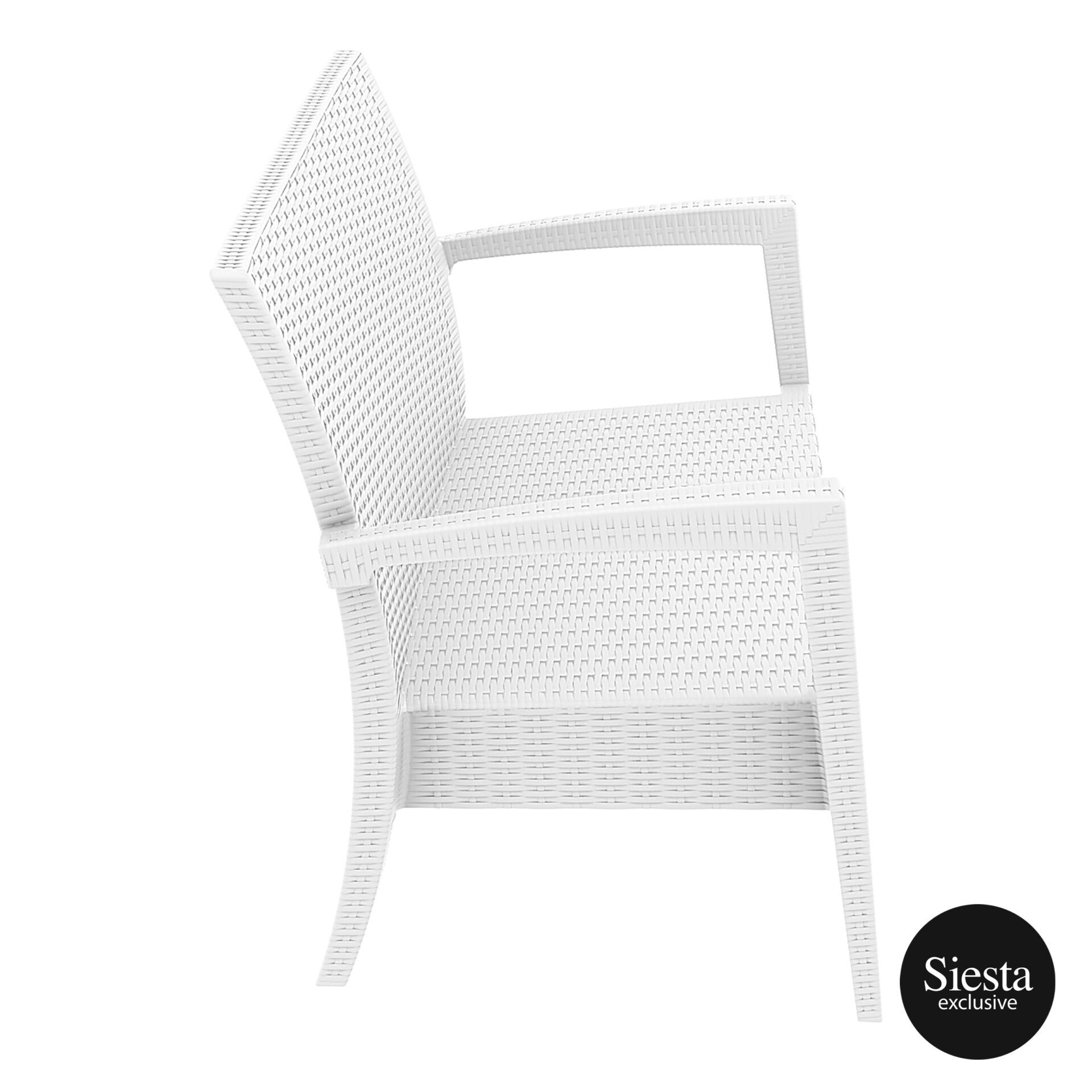 Resin Rattan Miami Tequila Lounge sofa white side