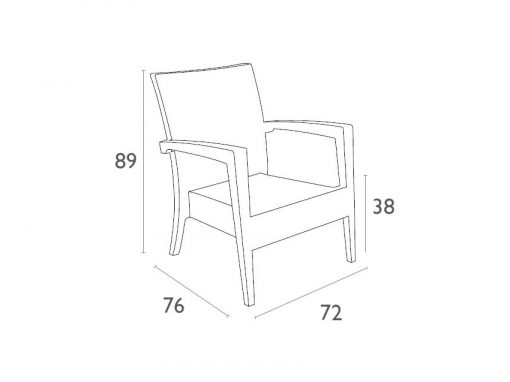 Tequila Lounge Armchair Dimensionsbrvy98