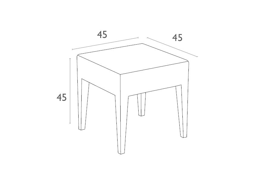 Tequila Side Table Dimensionsd87004