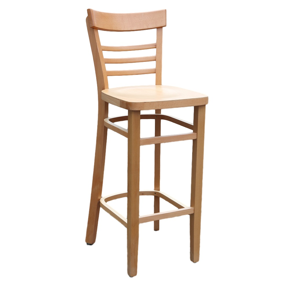 Vienna Barstool Timber Natural Stain