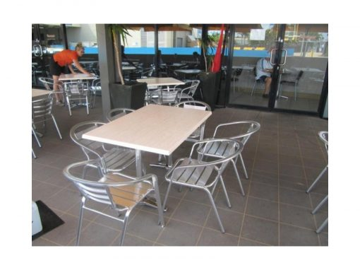 Aluminium Cafe Chairs And Tables