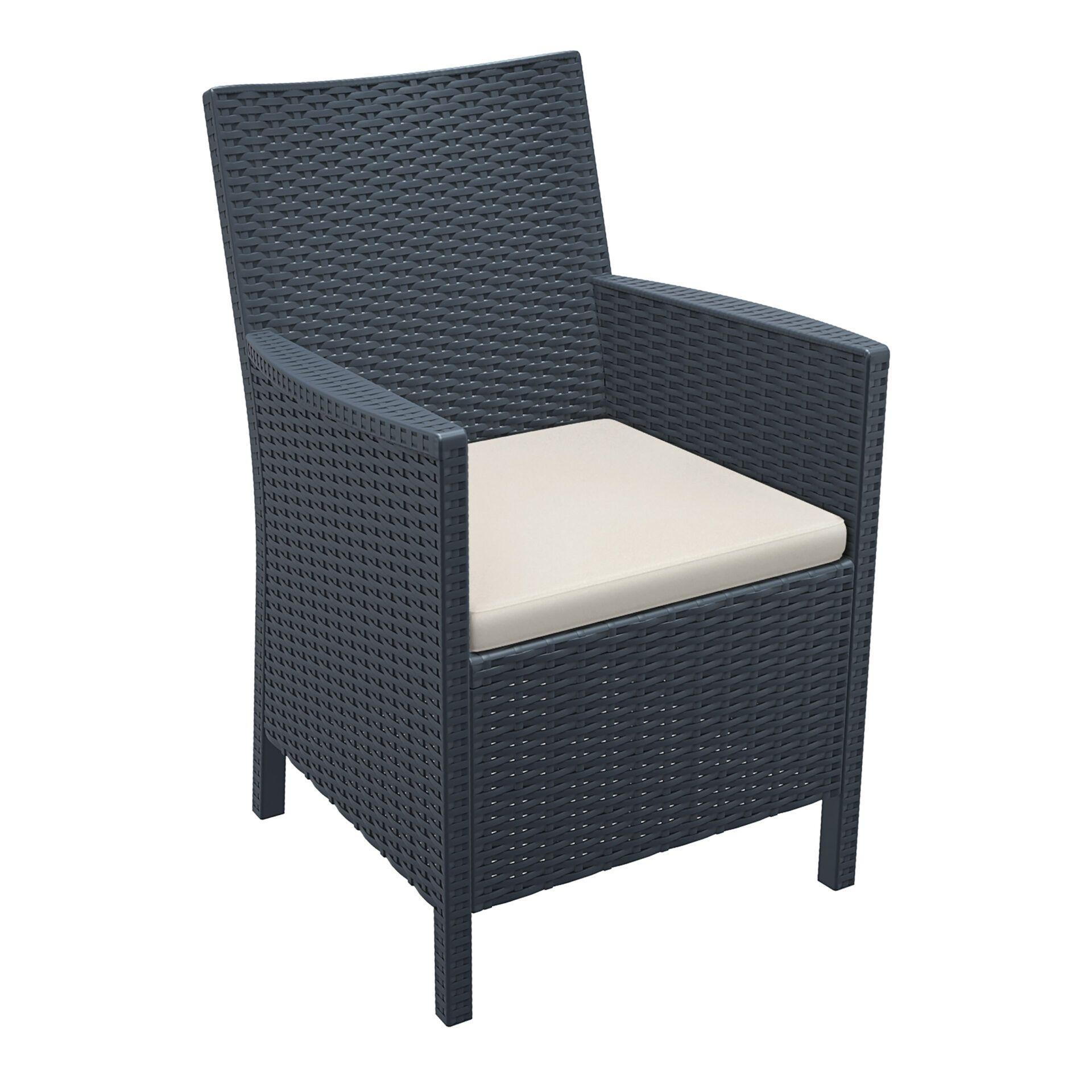 california tub chair cushion darkgrey front side