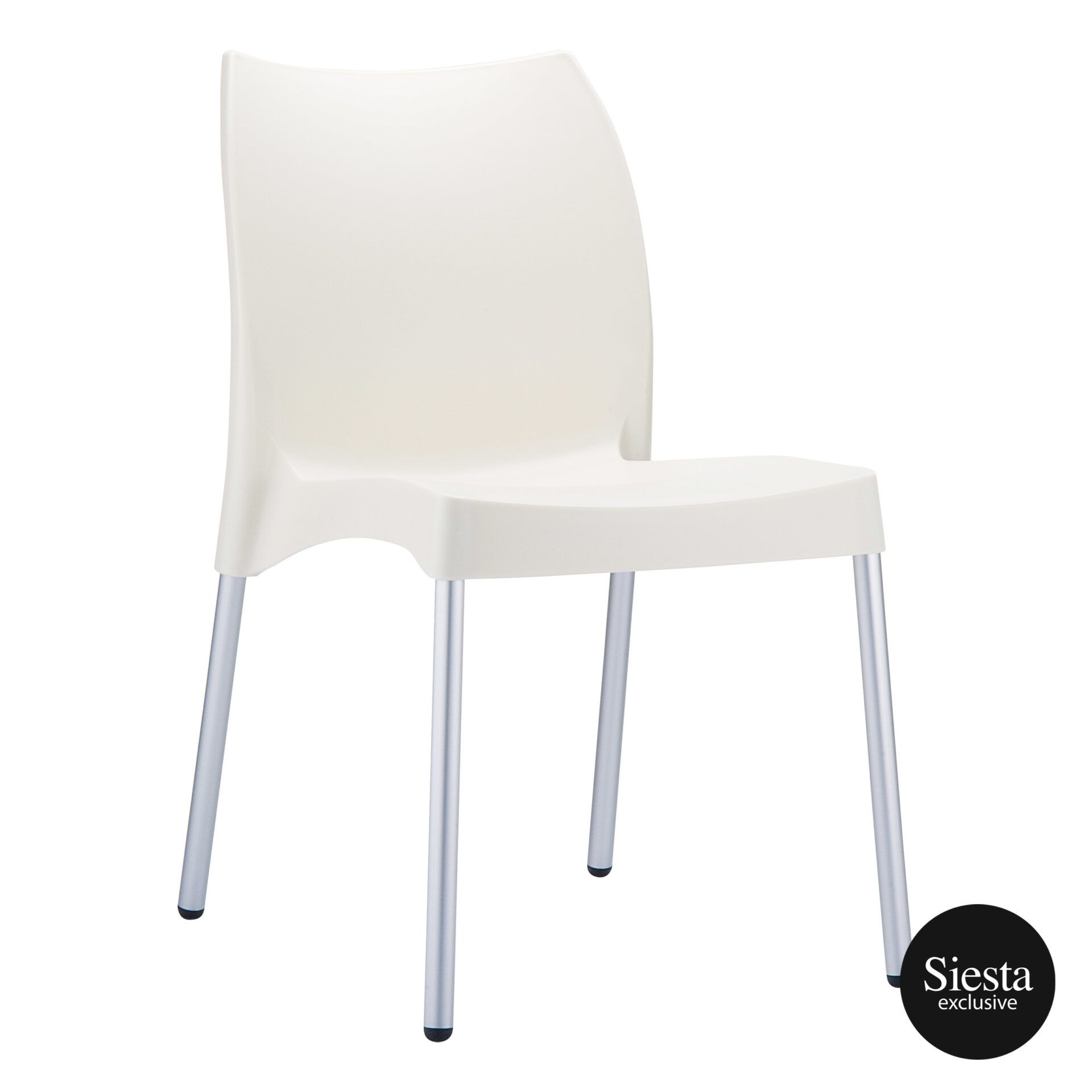 commercial outdoor hospitality seating vita chair beige front side 1