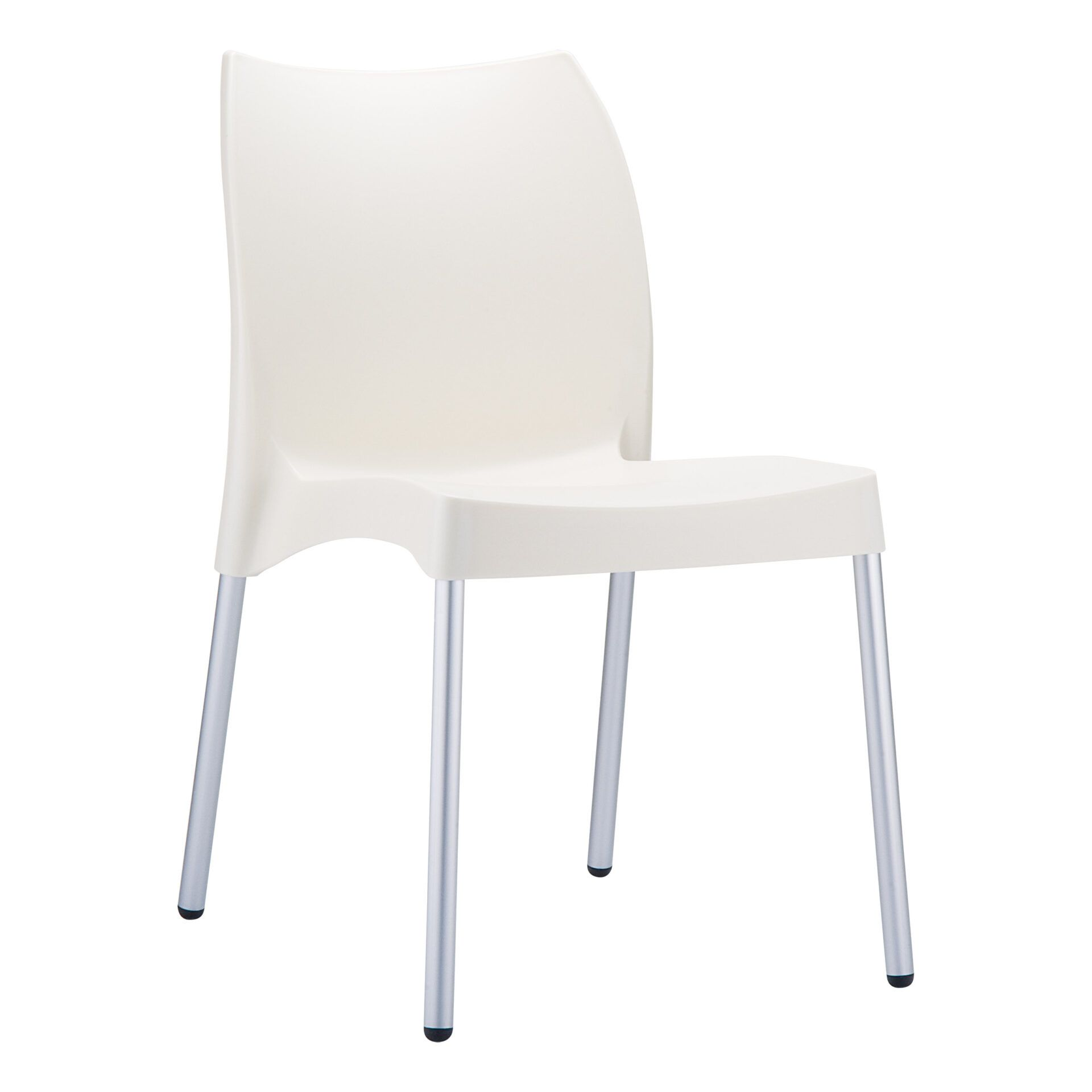 commercial outdoor hospitality seating vita chair beige front side