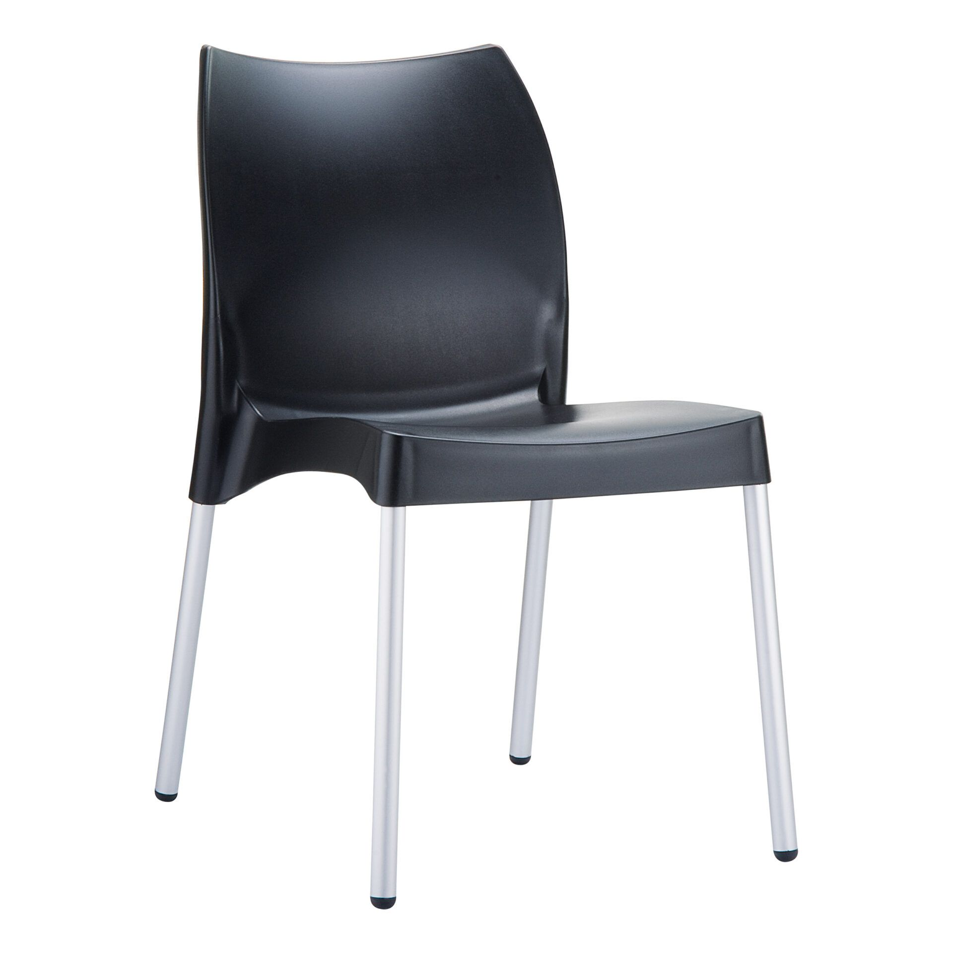 commercial outdoor hospitality seating vita chair black front side