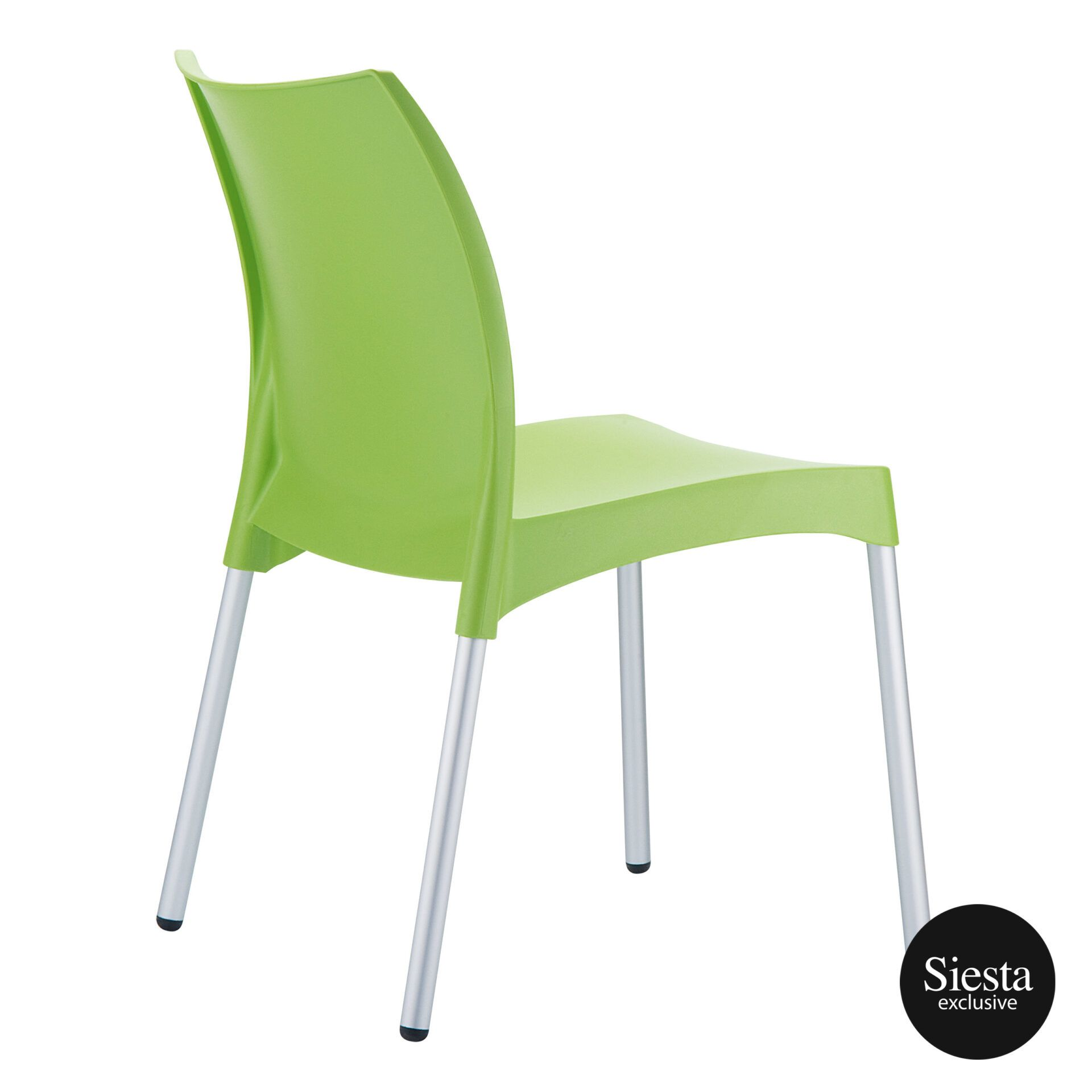 commercial outdoor hospitality seating vita chair green back side 1