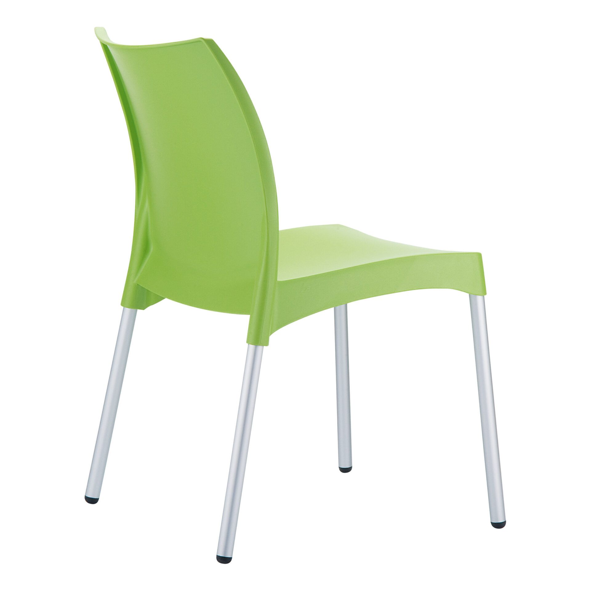 commercial outdoor hospitality seating vita chair green back side