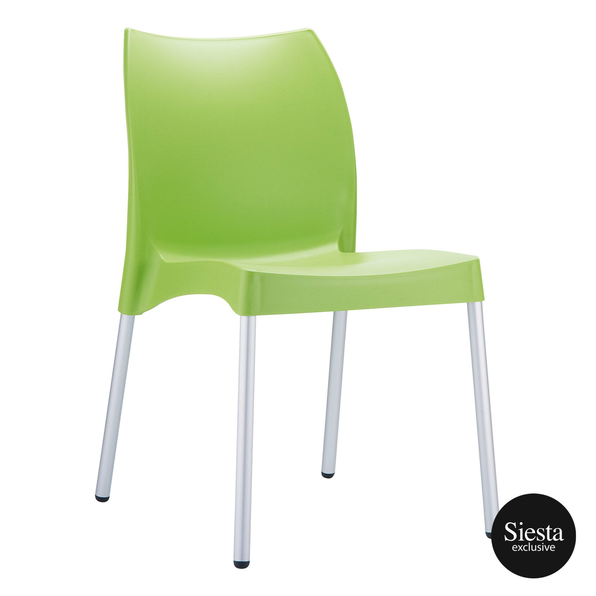 commercial outdoor hospitality seating vita chair green front side 1