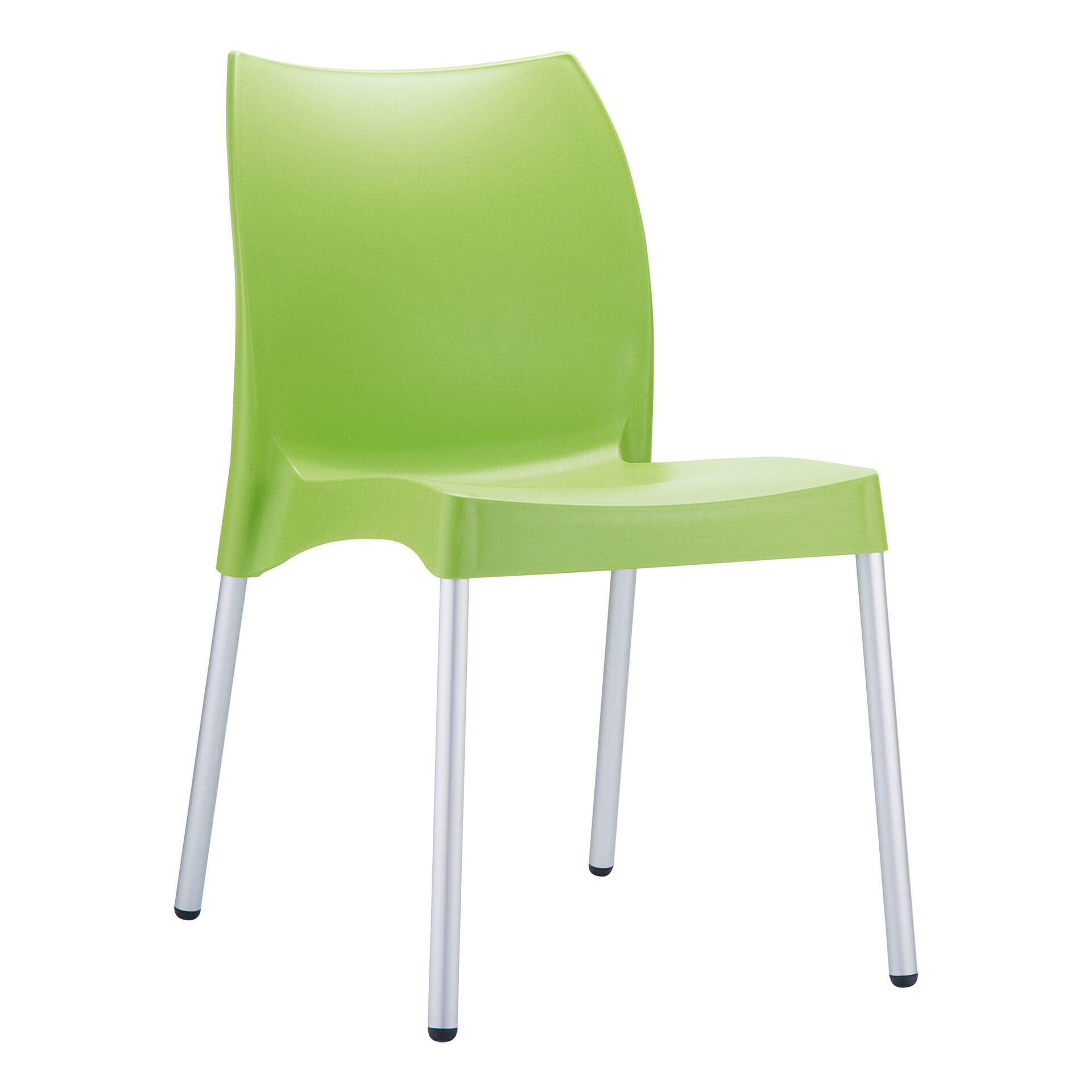 commercial outdoor hospitality seating vita chair green front side