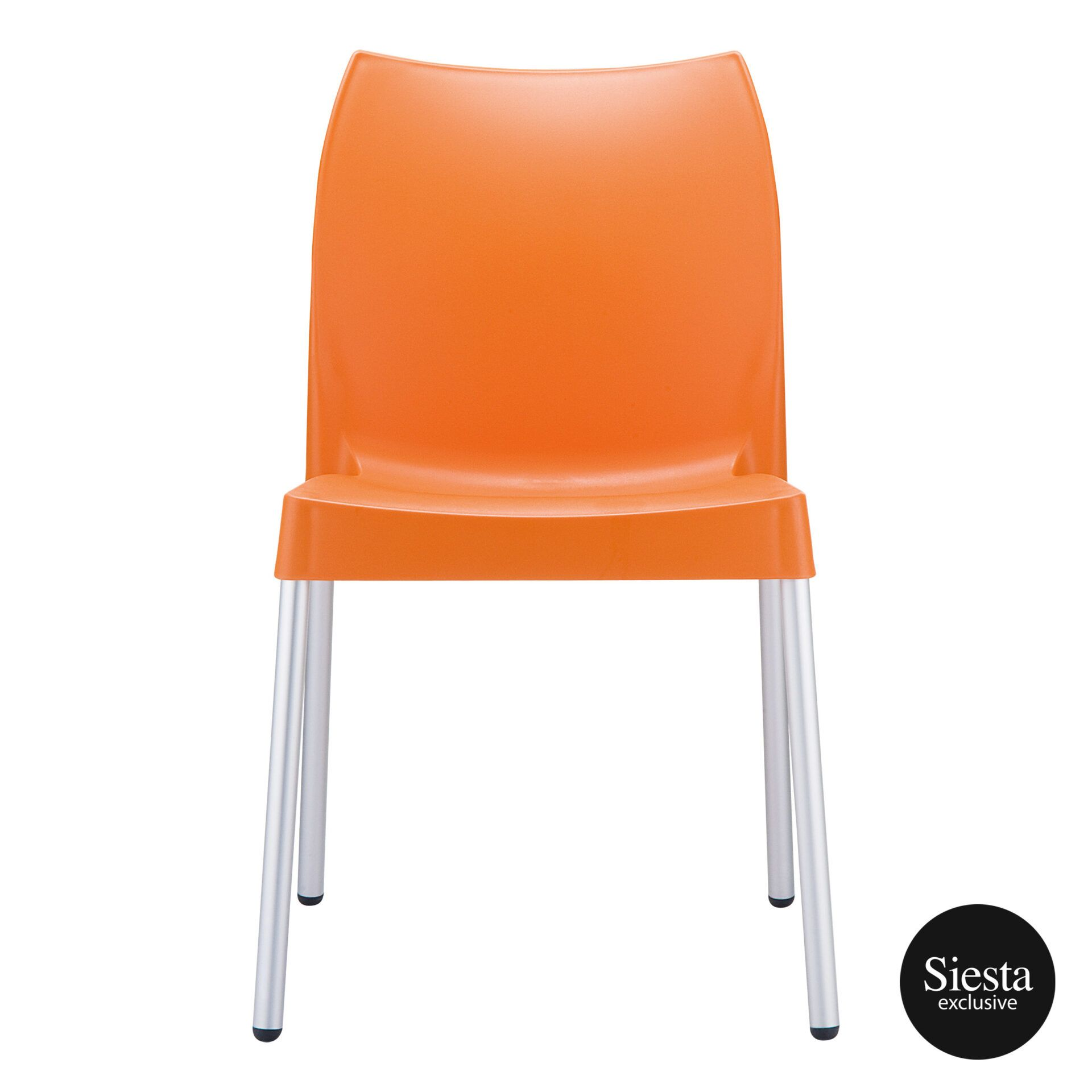 commercial outdoor hospitality seating vita chair orange front 1