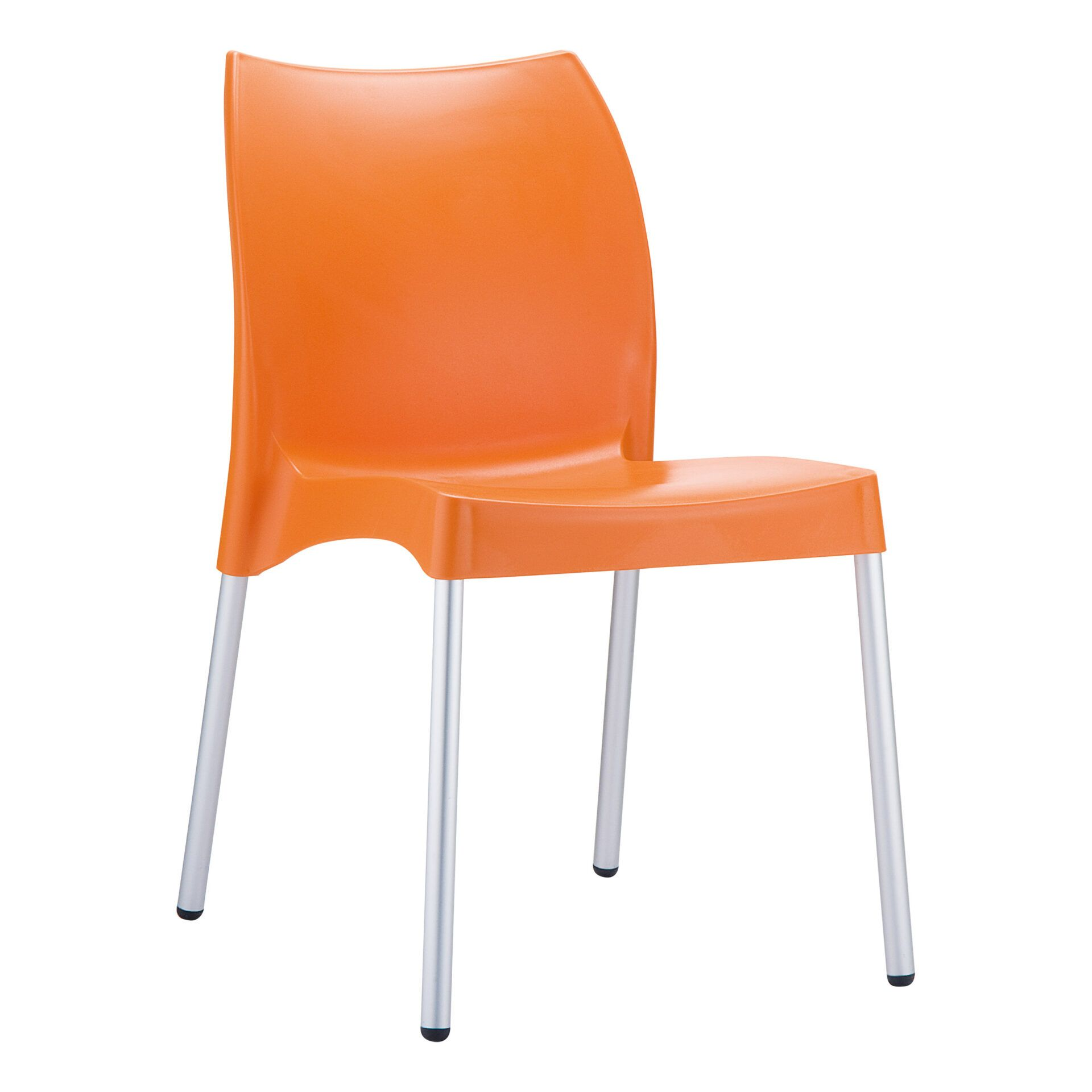 commercial outdoor hospitality seating vita chair orange front side